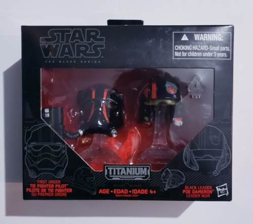 Star Wars Titanium Tie Fighter Pilot Poe Dameron Casco Black