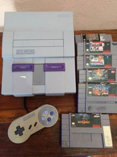 Super Nintendo Snes Consola Mortal Kombat 6 Videojuegos