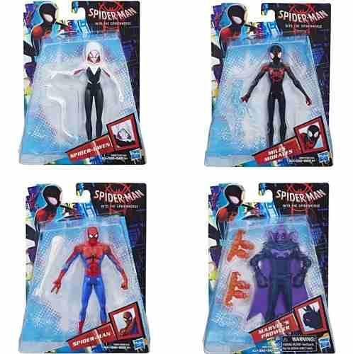 4 Figuras Spider Man Into The Spider Verse 6 Pulgadas