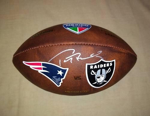 Balon Firmado Tom Brady Certificado Nfl New England Patriots