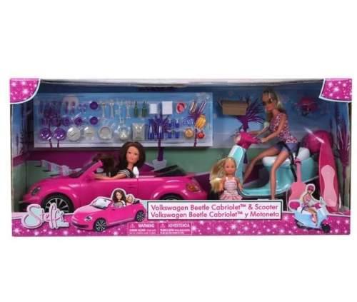 Barbie Vw Beetle Cabriolet Y Motoneta