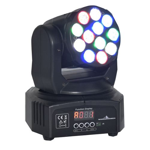 Cabeza Movil 12 Led 5 W Wash Rgbw Disco Robotica Dmx Luces