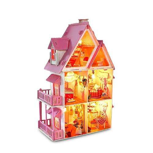 Casita Muneca Villa 42cm Casa Princesa Barbie Envío Gratis
