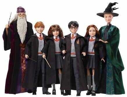Colección Completa 6 Figuras Harry Potter. 28 Cm. Mattel.