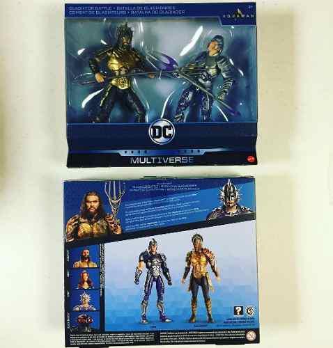 Dc Comics Multiverse 2 Pack Aquaman Gladiator & Orm 2018