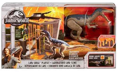 Dinosaurio Jurassic World Baryonyx Set De Lava Nuevo Sellado