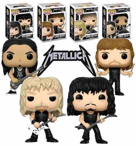 Funko Pop Metallica Set 4 Completo Kirk Robert James Lars