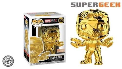 Funko Pop Star Lord Cromado Dorado Marvel Chrome (1)