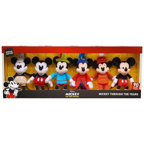 Mickey Mause Set 6 Peluches Disney 90th True Original 2018