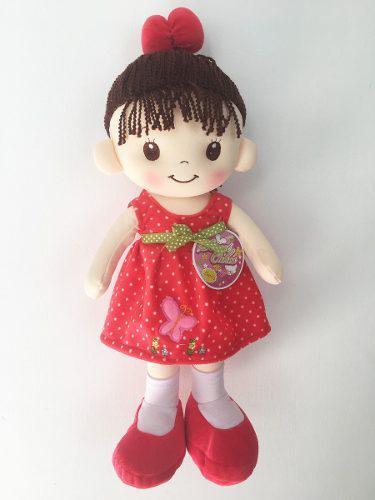 Muñeca De Trapo Y Tela Clarita Color Rojo