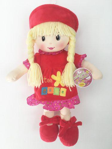 Muñeca De Trapo Y Tela Niobe Color Rojo