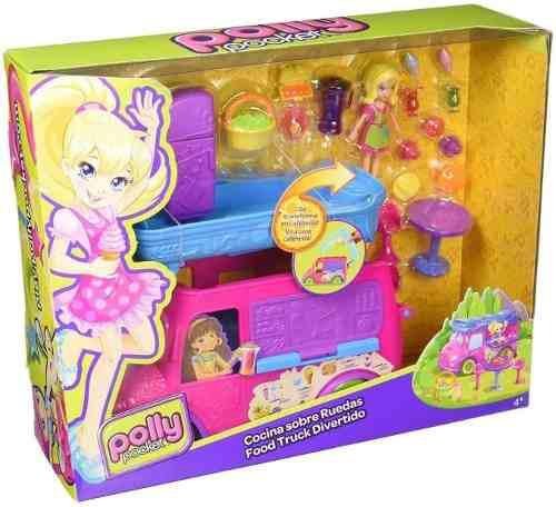 Muñeca Polly Pocket Playset Cocina Sobre Ruedas