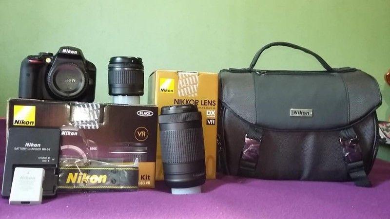 Nikon D lentes  mm y  mm + case