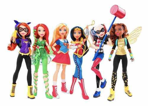 Pkt 6 Muñecas Dc Super Hero Girls 30 Cm Harley Quinn