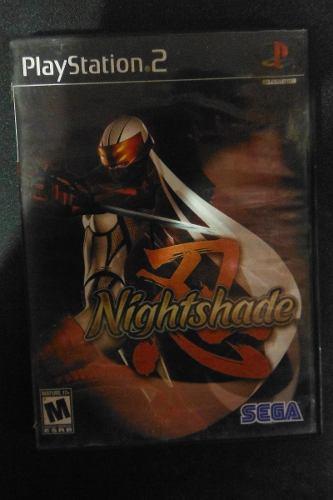 Ps2 Playstation 2 Nightshade Videojuego Accion Ninja Anime