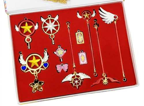 Sakura Card Captor Set Display Con Dijes /coleccionables Dhl