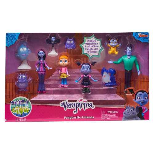 Vampirina Disney Junior Set 10 Figuras Amigos Fangtastic