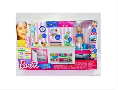 Barbie Cocina De Lujo 20 Accesorios Luz Y Sonido Playset