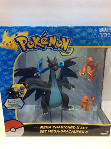 Figuras De Pokemon Pikachu 100% Nuevo Mega Charizard Azul