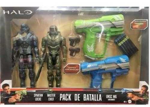 Halo Master Chief Spartan Locke Y 2 Lanzadores Mattel Boomco