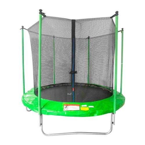 Trampolin 2.4 Mts Brincolin Infantil Con Red Tumbling Verde