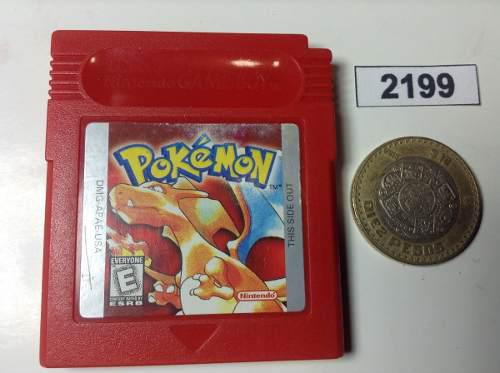 2199. Pokemon Red Version *** Gameboy Pokechay