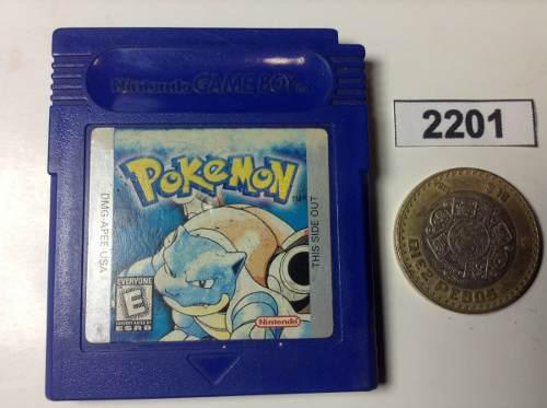 2201. Pokemon Blue Version *** Gameboy Pokechay