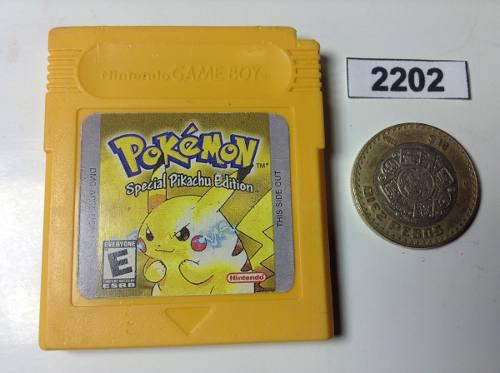 2202. Pokemon Yellow Version *** Gameboy Pokechay