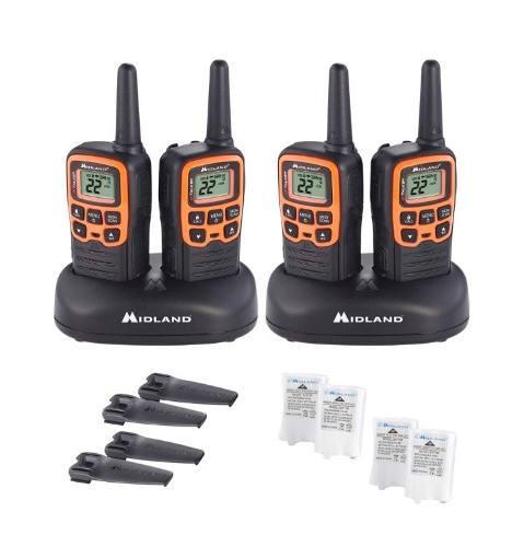 4 Radios Midland Walkie Talkie Plus Comunicación+ Manos