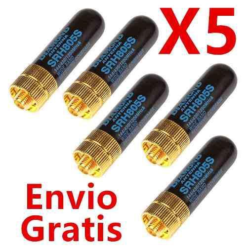 5 Mini Antena Ganancia Para Radios Baofeng 888s Uv5r Envio G
