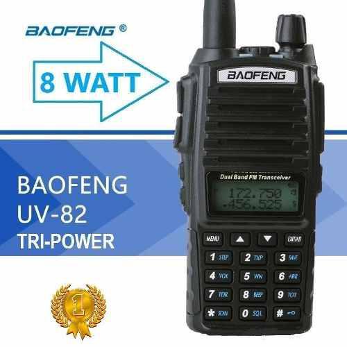 8w Doce Radios Baofeng Uv-82 Hp Vhf/uhf Máxima Potencia