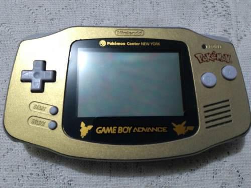 Gameboy Advance Edicion Especial Pokemon Center Dorado