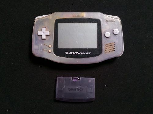 Gameboy Advance Morado Translucido Con Tapa