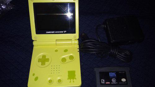 Gameboy Advance Sp Ags 101 Doble Luz Carcasa Bob Esponja Nue