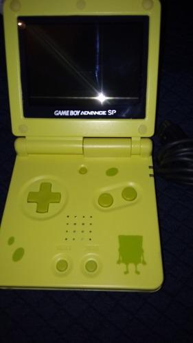 Gameboy Advance Sp Doble Brillo Edicion Bob Esponja