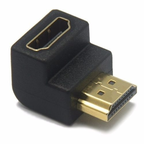 Hdmi Cople Union Adaptador Conector Hembra Macho 90 Grados