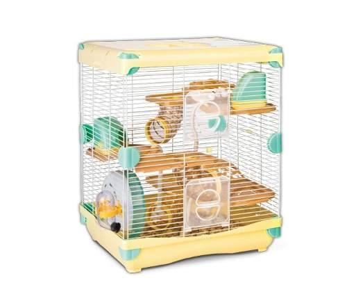 Jaula Para Hamster Con Bebedero 36x27x42.5 Varios Colores
