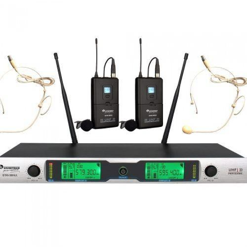 Microfonos Solapa/2 Microfonos Iadema/2 Canales Stw36hul