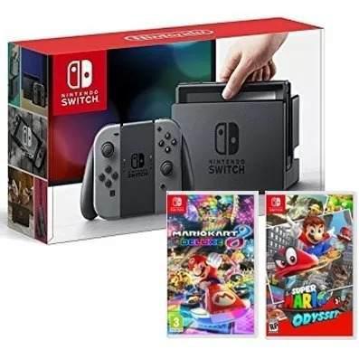 Promcion Nintendo Switch + Mario Kart Y Mario Oddysey /5250