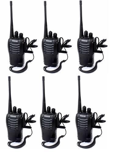 Set 6 Radios Retevis H-777 Walkie Talkie 2 Vias 16 Canales