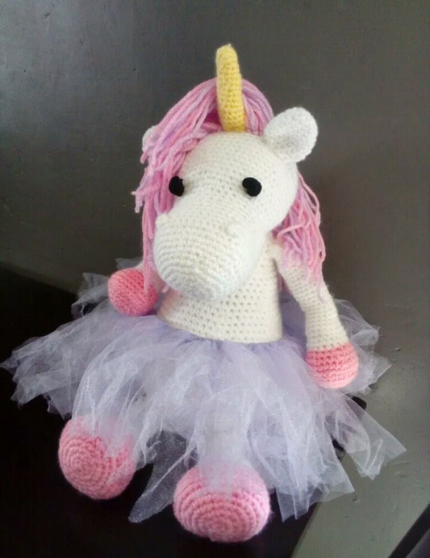Unicornio amigorumi tejido crochet