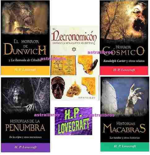 H P Lovecraft 5 Libros Llamada De Cthulhu En La Cripta