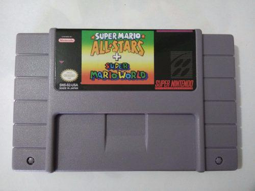 Mario All Star + Mario World Supernintendo Snes (repro)