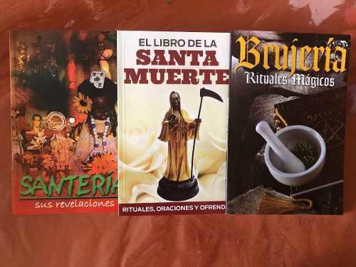 Paquete De 3 Libros Santa Muerte, Santería Y Brujería