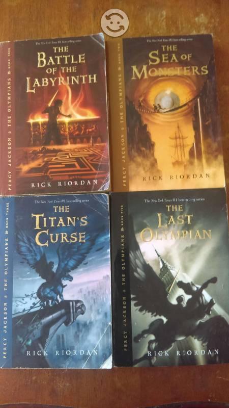 Percy jackson s lote de libros en ingles