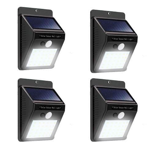 4 Lámparas Solar De 30 Leds Sensor Movimiento Super Oferta