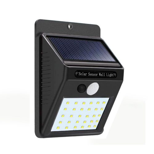 Lámpara Solar Con 30 Leds Impermeabley Sensor De Movimiento