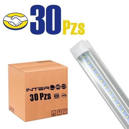 Paq 30 Tubos Led 1.2mts 18w T8 Canaleta Aluminio 18watts