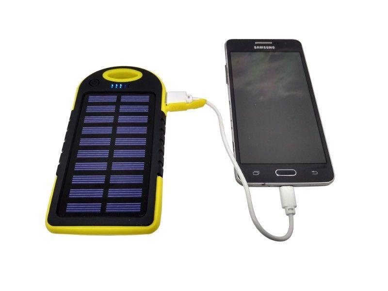 Power Bank Batería Externa Solar  mah Con Lámpara