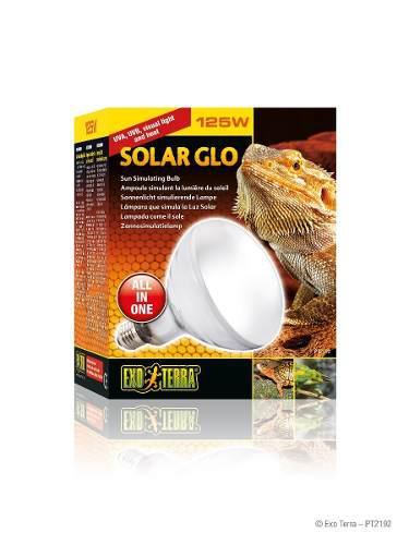 Exo Terra Solar Glo 125w - Foco 2 En 1 Calor Y Uvb